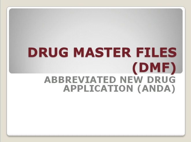 DMF/ANDA Submissions — Service by Pharmaffiliates Analytics